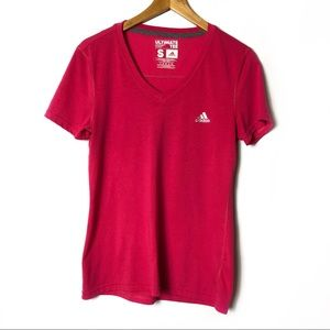 ADIDAS Ultimate Tee Active T-Shirt V-Neck Top
